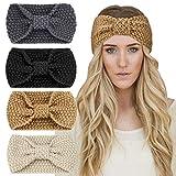 DRESHOW Crochet Turban Headband for Women Warm...