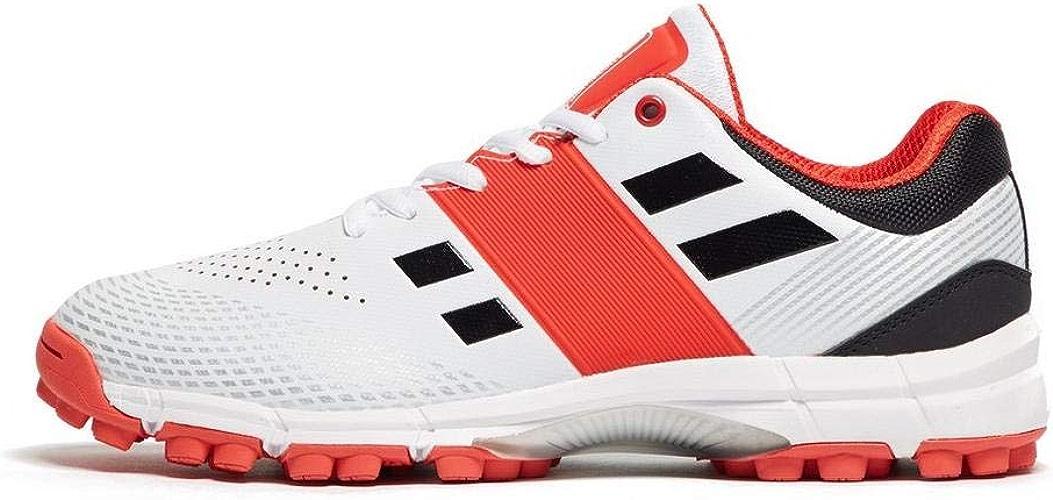 Chaussures de Cricket grises Nicolls Velocity 2.0 Rubber pour Hommes