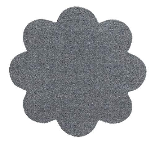 Hanse Home Waschbare Schmutzfangmatte Soft & Clean Grau in Blumenform, 67x67 cm