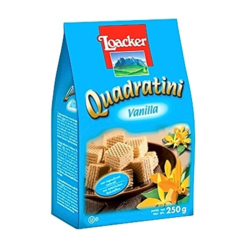 Waffeln Quadratini Vanille 250 gr. - Loacker