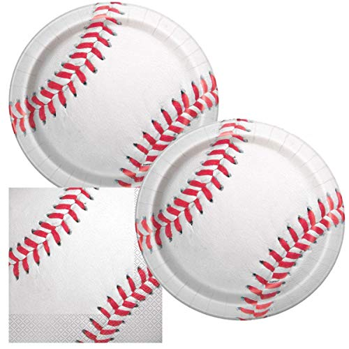 Baseball Themed Birthday Party Napkins and Plates