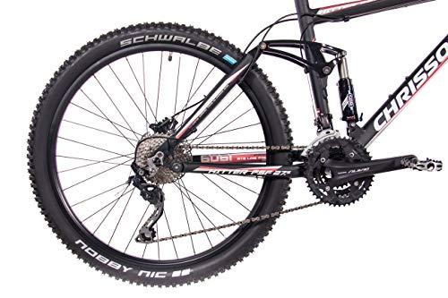 CHRISSON 27,5 Zoll Mountainbike Fully – Hitter FSF schwarz rot – Vollfederung Mountain Bike mit 30 Gang Shimano Deore Kettenschaltung – MTB Fahrrad für Herren und Damen mit Rock Shox Federgabel - 7