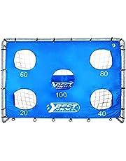 Best Sporting Unisex ungdom fotbollsmål dörr med dörrvägg 5 hål blå boll, en storlek