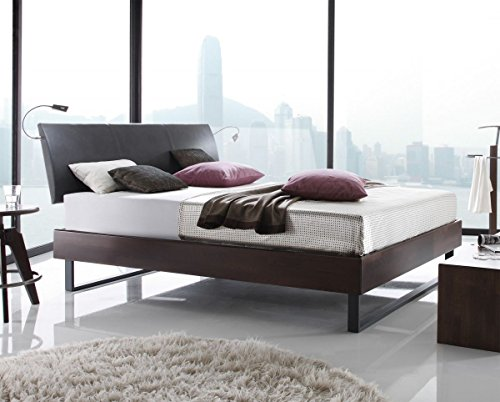 Preisvergleich Produktbild Hasena Wood Line Bett Premium 18 Buche Schoko Kopfteil Ripo 140x200