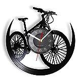 ZFANGY Carretera Bicicleta de montaña Disco de Vinilo Reloj de Pared Reloj de Pared Decoración de...