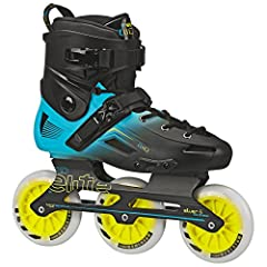 Recreational fitness inline roller skates Light weight hybrid Series aluminum 3 wheel frame with quick change axles Bevo race rated-5 speed bearings World record racing US made 110mm 85a race wheels Extra supportive molded shell featuring dual buckle...
