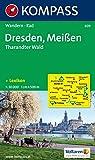 Dresden, Meißen, Tharandter Wald: Wander- und Bikekarte. 1:50.000