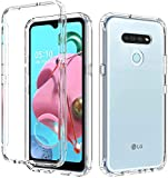 Zeking Case for LG K51, LG Reflect Case, LG Q51 Case, Protection with Drop Proof and Scratch-Resistant Texture Sparkle TPU Edge and Hard PC Armor Phone Cover for LG LMK500 6.5 inches