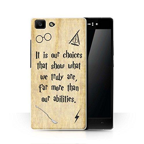 Hülle Für Oppo R5 Schule der Magie Film Zitate Choices und Abilities Design Transparent Ultra Dünn Klar Hart Schutz Handyhülle Case
