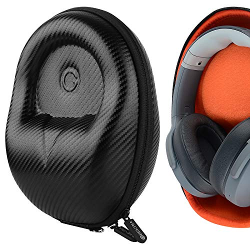 Geekria UltraShell Case Compatible with Skullcandy Hesh 3, Hesh 2, Crusher Wireless, Aviator, Venue Headphones, Replacement Protective Hard Shell Travel Carrying Bag with Cable Storage (Black)