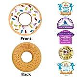 Silli Chews Vanilla Donut (Doughnut) Teether Favorite Happy Baby Teething Toy Food Grade Silicone Idea
