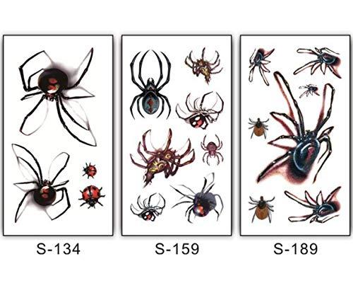 Xiaofeng214 Autocollant de Tatouage araignée imperméable