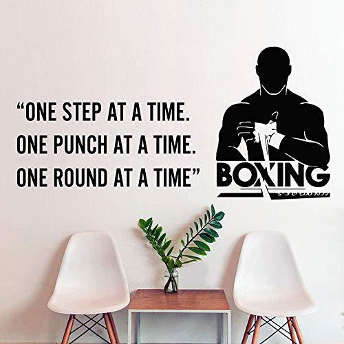 YuanMinglu Vinyl Aufkleber Schlafzimmer wandtattoo Zitat Hause Sport Fitness Boxen Sport Boxing Club Dekoration tapete Poster 129x63 cm