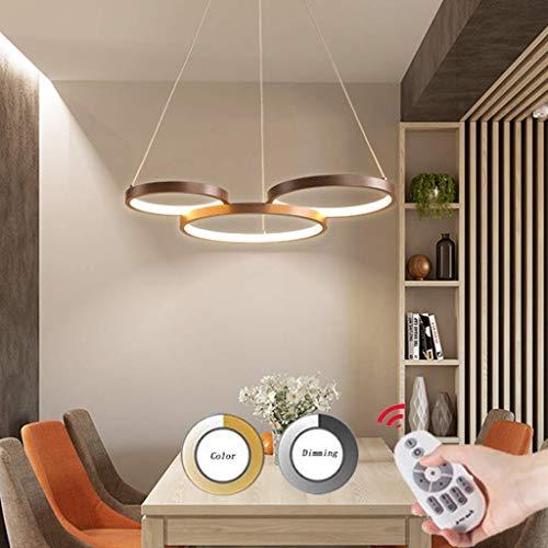 SKSNB Lámpara Colgante LED Moderna Regulable con Control Remoto Lámpara Colgante Lámpara Colgante de Altura Ajustable Lámpara de Techo para Sala de Estar Comedor Oficina Dormitorio Lámpa