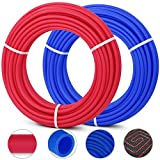 PEX Pipe 1/2 Inch Flexible Water Pipe 2 Rolls of X 100 Feet Tubing Red/Blue Potable Water Pex Tubing
