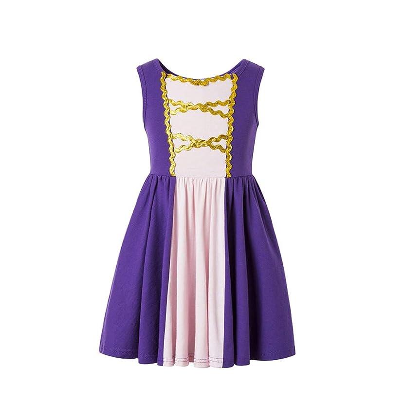 Rapunzel Princess Dress Moana Girls Adventure Cosplay Costume Rapunzel Costumer for Litter Girls
