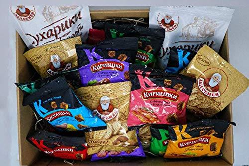 Russian-Box - Suhariki Brotchips Croutons Snack Variation Set - 20 Packungen (Ohne russische Geschenkverpackung)