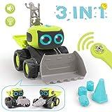 REMOKING RC Roboter Auto Spielzeug, Ferngesteuertes Baufahrzeug Spielzeug Geschenke für Kinder, 3...