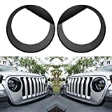 Sunluway Angry Bird Headlight Covers Trim Clip-in Version Front Lamp Covers Fit for 2018 2019 2020 Jeep Wrangler JL Sport/Sports (Not for Rubicon Sahara)