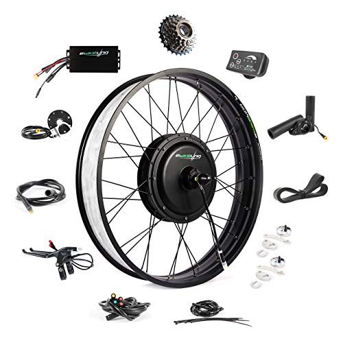 EBIKELING 48V 1200W 26' Fat Direct Drive Waterproof Electric Bike Kit - Ebike Conversion Kit - Electric Bike Conversion Kit (Rear/LED/Thumb)