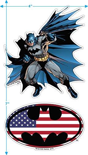 Popfunk Batman Patriotic Logo USA Flag T Shirt & Stickers