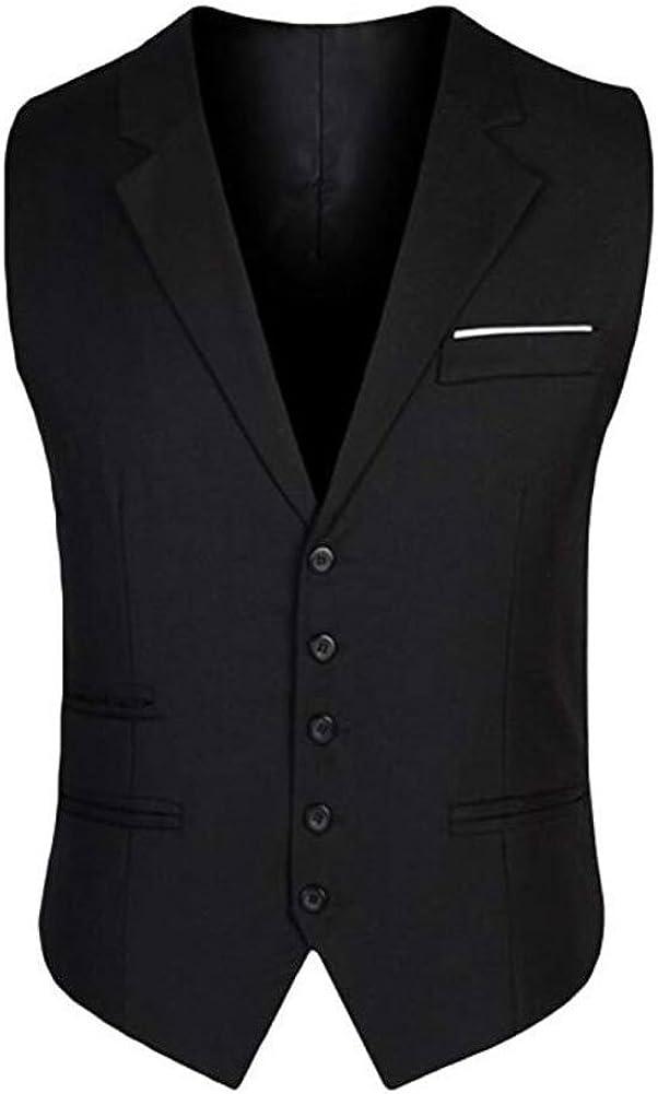 Men's Slim Fit Grey Suits Vest Business Suit Dress Waistcoat Vests Separate Vest