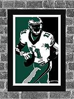 Philadelphia Eagles Carson Wentz Portrait Sports Print Art 11x17