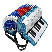 ミニ17キー8バスアコーディオン教育楽器子供のための4色で遊ぶ子供たち子供アマチュア初心者クリスマスプレゼント,ブルー
