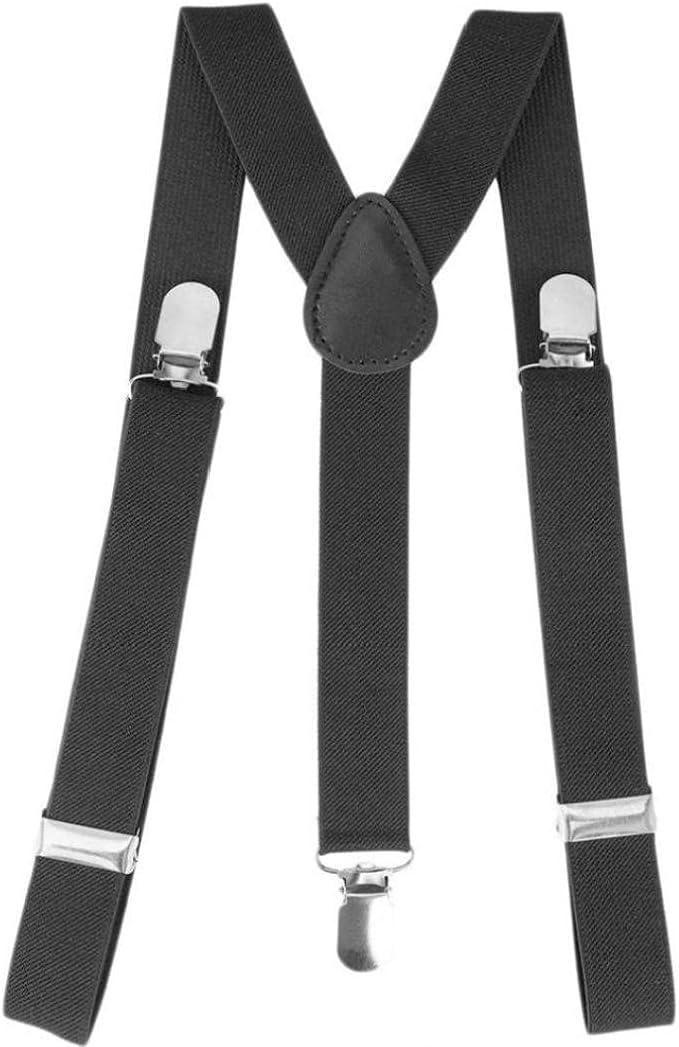 Onsinic 1 Pc Men Suspenders Adjustable Bracket Clip on Y Shaped Braces Adult Trousers Shirt Accessories