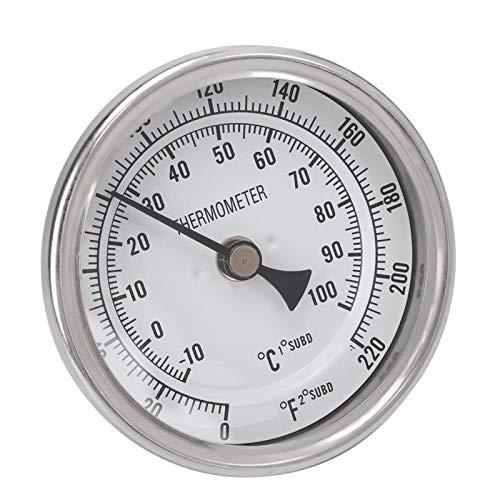 CUTULAMO Termómetro de Olla, termómetro de Cerveza de Metal de Material Duradero sin Accesorios para Preparar Cerveza para hervir y Cosas medibles