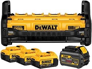 DEWALT DCB1800M3T1 FLEXVOLT Portable Power Station & Simultaneous Charger (includes 4 Batteries)
