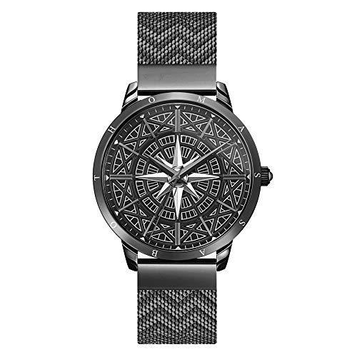 THOMAS SABO Herren Analog Quarz Uhr mit Edelstahl Armband WA0374-202-203-42 MM