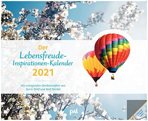 Der PAL-Lebensfreude-Inspirationen-Kalender 2021: Wandkalender zum Aufhängen, wunderschöne Landschaftsmotive mit motivierenden und positiven Gedanken, 56,0 x 45,5 cm