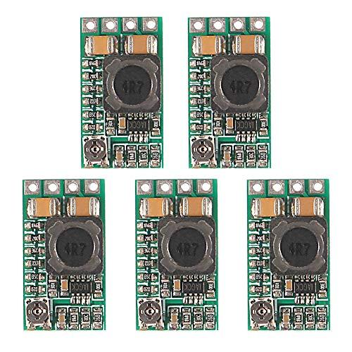 ALMOCN 5PCS 5V Regulator Mini Voltage Reducer DC 4.5-24V 12V 24V Step Down to 5V Buck Converter Board 3A Volt Step-Down Transformer Power Supply Module