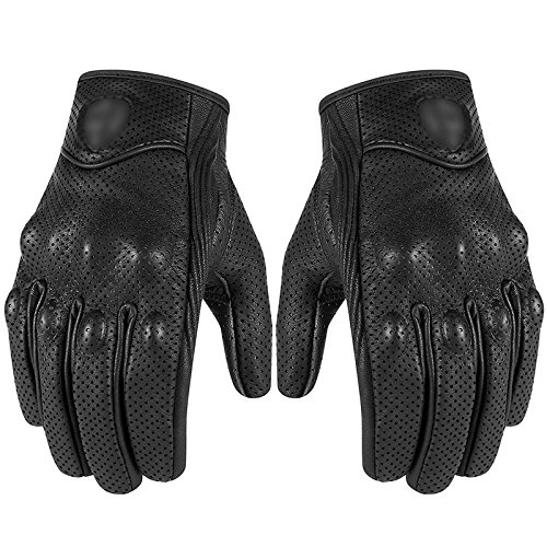 Icona touch guanti in pelle moto da corsa guanti