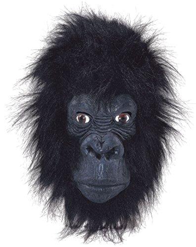 Bristol Novelty BM262 Gorilla masker, meerkleurig, eenheidsmaat
