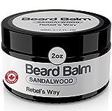Sandalwood Beard Balm Made in Canada (2oz - 60ml) Light Scent - 100%