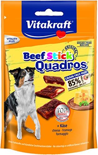 Vitakraft - Beef Stick Quadros, Snack para Perros de Carne de Buey con Queso - 70 g