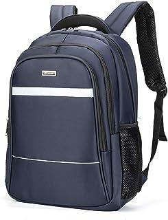 Laptop Backpack, Waterproof Business Work Backpack Shoulder Student 18 Inch Backpack QDDSP (Color : Blue)
