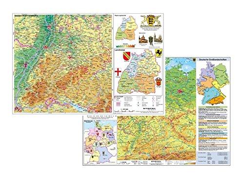 Deutschland physisch / Baden-Württemberg physisch: DUO-Schreibunterlage