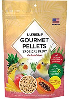 LAFEBER'S Premium Tropical Fruit Pellets Pet Bird Food, Made with Non-GMO and Human-Grade Ingredients, for Cockatiels, 1.2...