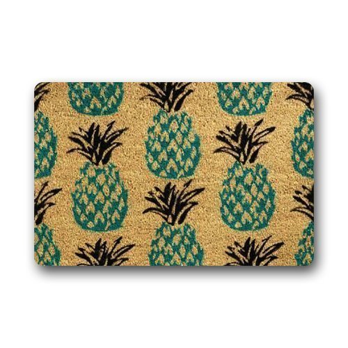 WAOIP Fußmatten Personalisieren Ananas Custom Fußmatte 23,6(L) X 15,7(W) Zoll