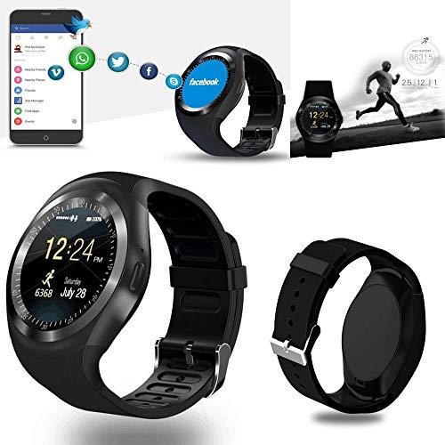 Jollini® voor Samsung Galaxy A80 – smartwatch, rond, bluetooth, sporthorloge, simkaart, ondersteuning stappenteller, slaap, calorieën, voor Samsung Galaxy A80