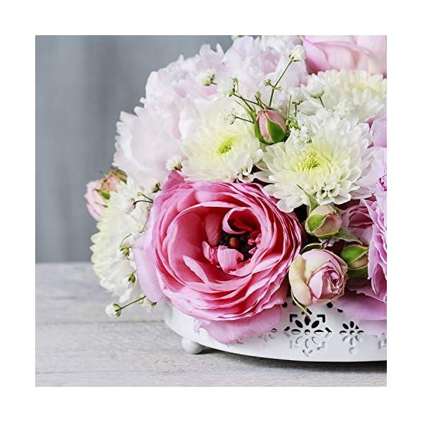 Kit de arreglo de flores – Paquete de 6 bolas redondas de espuma floral en un solo diseño para centro de mesa, flores de…