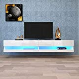 QCUTEP Wall Mounted Media Console 180 Wall Mounted Floating 80 TV Entertainment...