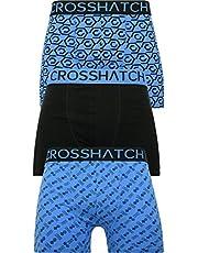 Crosshatch boxershorts för män flerpackade 3PK underkläder presentset 3-pack botany