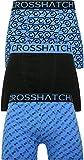 Crosshatch Mens Boxers Shorts Multipacked 3PK Underwear Gift Set 3 Pack Saunton [Blue - Gleason, M]