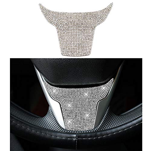 Thor-Ind Bling Steering Wheel Sticker Cover Trim for Honda Civic 2016-2021 CRV CR-V 2017 2018 2019 2020 2021
