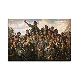 VVBGL Poster Vintage de la Segunda Guerra Mundial Soldado Comandante Cuadros de Arte de Pared para l...
