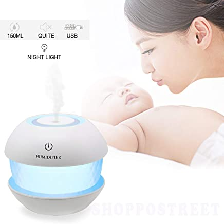 SHOPPOSTREET Magic Diamond Cool Mist Humidifiers Essential Oil Diffuser Aroma Air Humidifier with Led Night Light Colorful Change for Car, Office